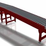 Modulo AO-70: Baia di scarico a rulli folli lunga