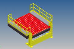 Piattaforma idraulica di carico e scarico container