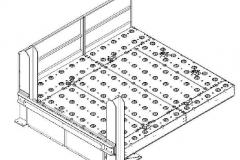 Disegno piattaforma di carico e scarico